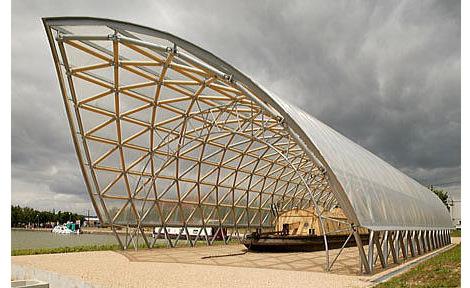 Shigeru Ban - Centre d'interpretation du Canal de Bourgogne, Pouilly-en-Auxois, France, 2005