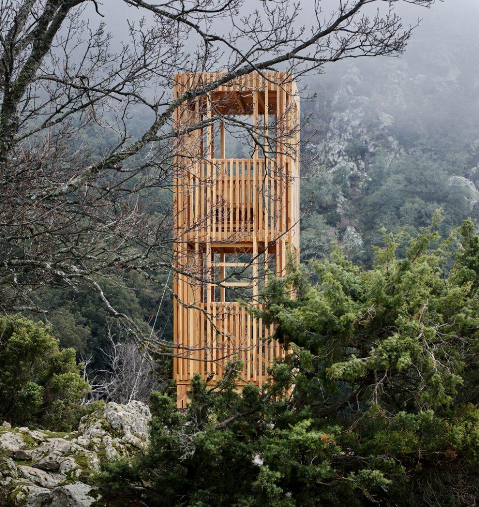 Orma Architettura (Франция). Площадки для наблюдения за оленями