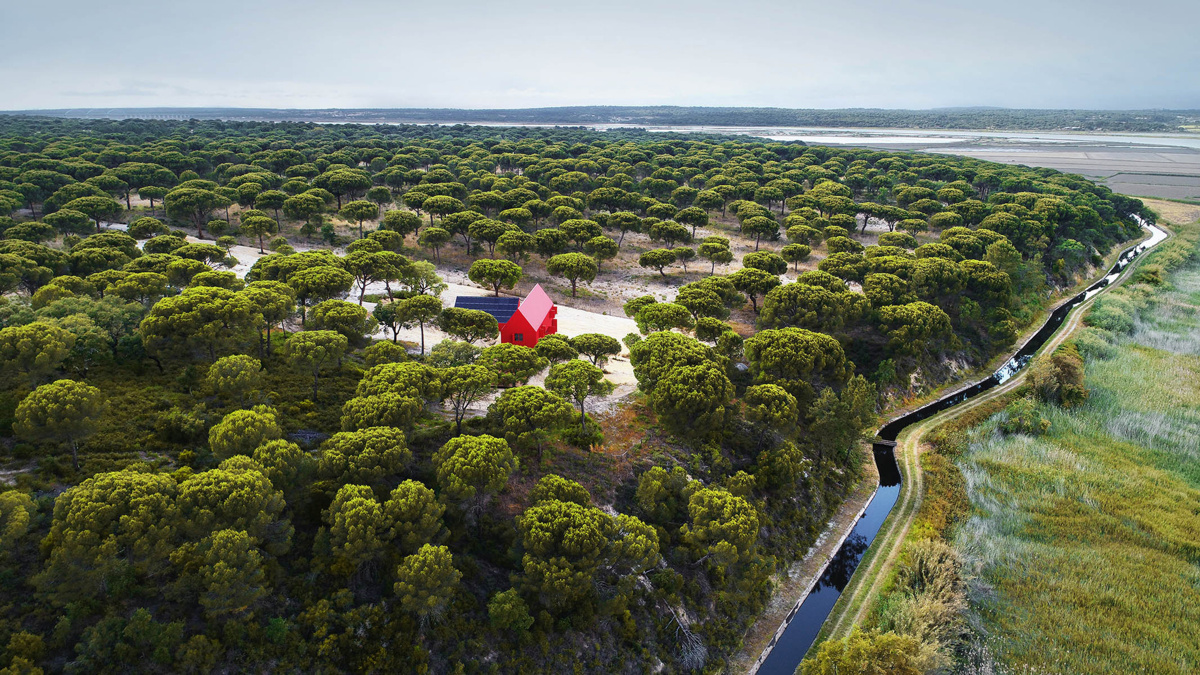 Rebelo Andrade (Португалия). Красный домик