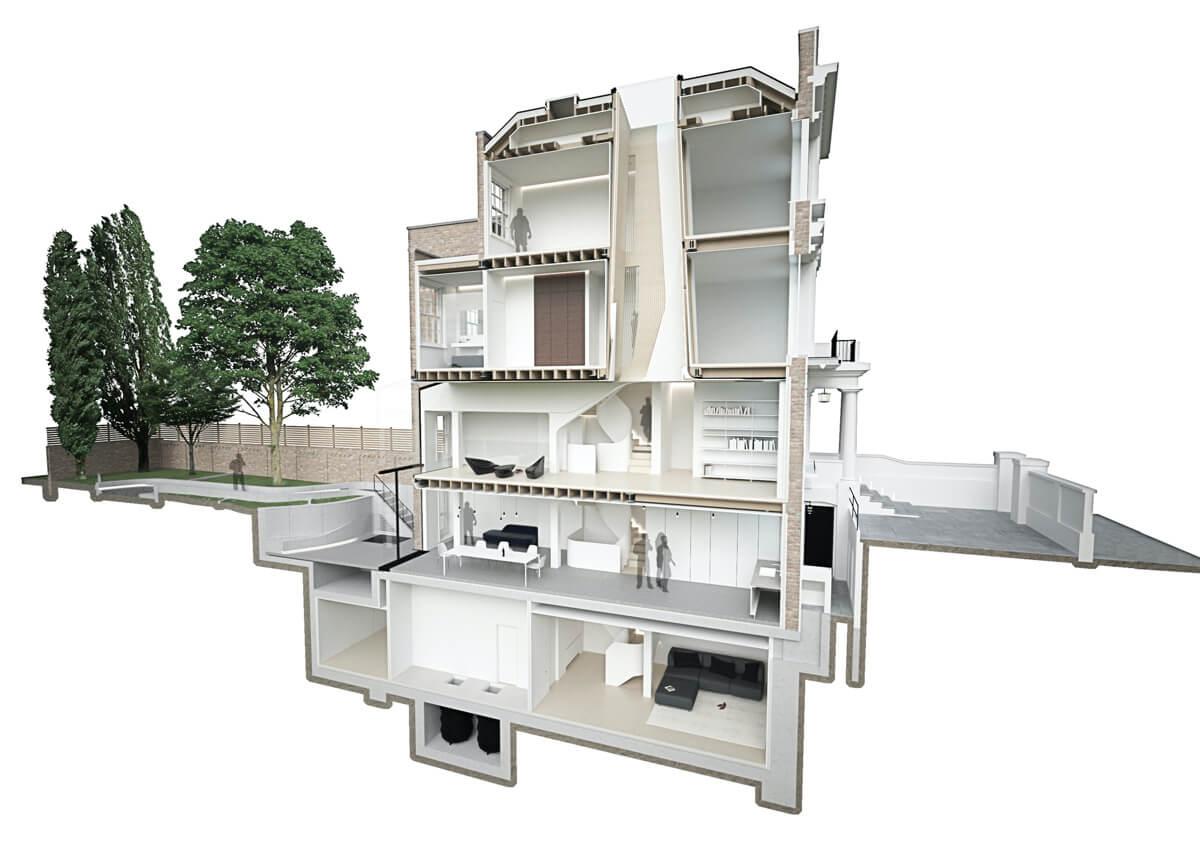 Flow Architecture + Magrits (Великобритания). Дом Light Falls