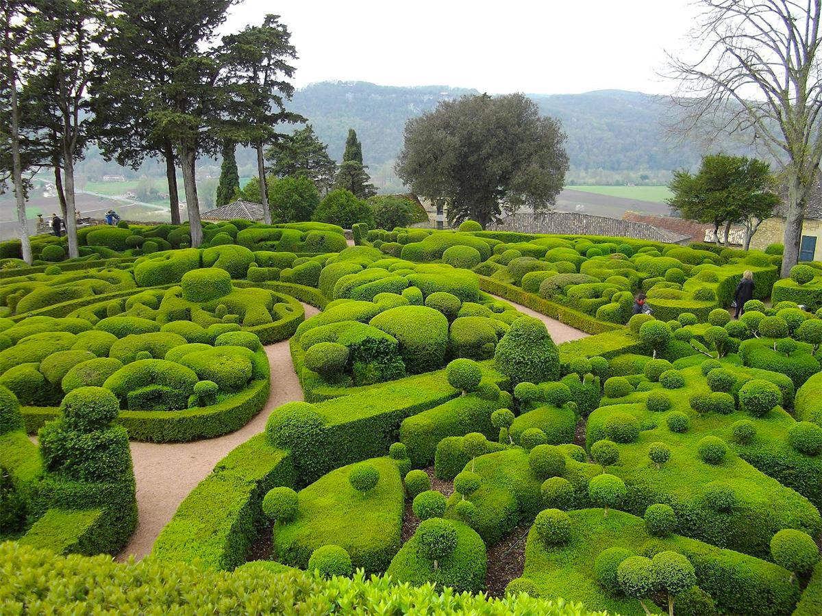 Сады Маркессака (Франция). Изумрудное чудо на реке Дордонь