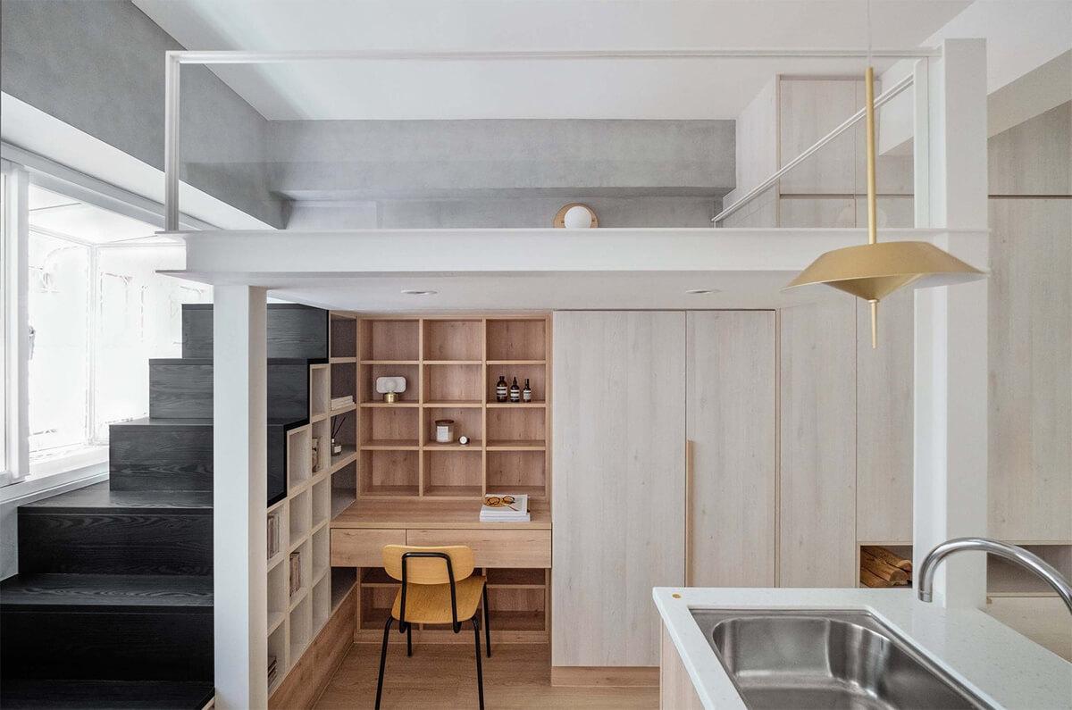NestSpace Design (Тайвань). Интерьер смарт-квартиры 23 м2