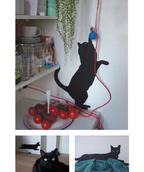 5.5 designers (Domestic) - Guitou the cat black