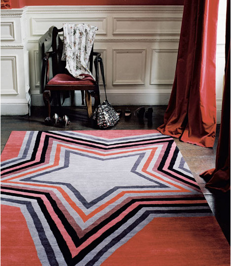 Rug - Star Red (Paul Smith)