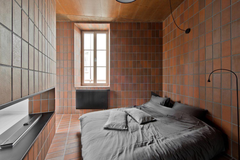 YCL Studio (Литва). Квартира с кирпичной плиткой