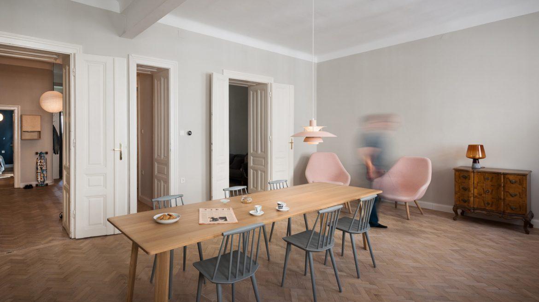Kombinat (Словения). Квартира с офисом на кухне