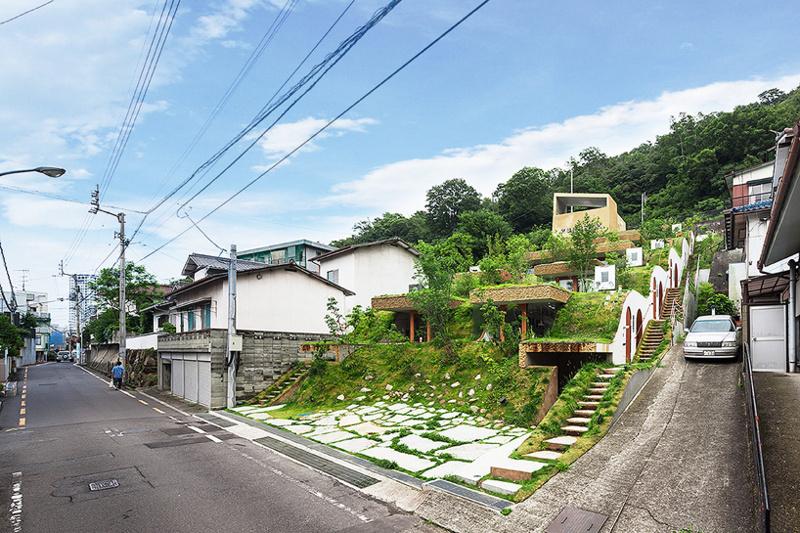 Keita Nagata Architectural Elements (Япония). Дом под травой