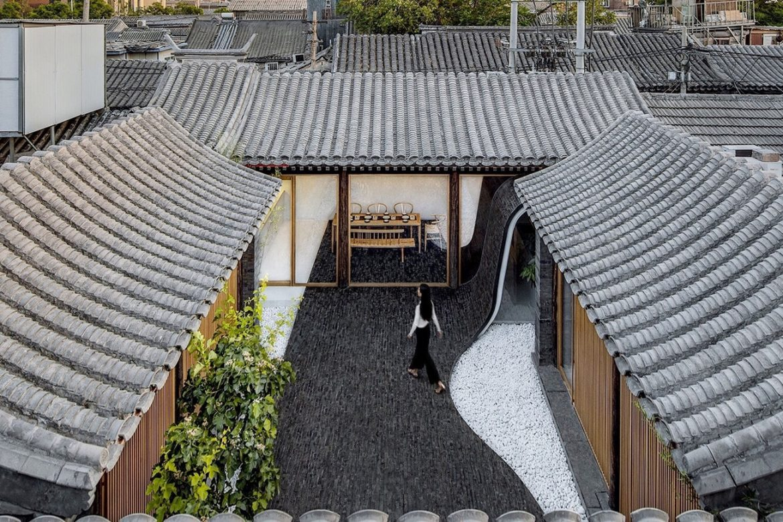 Archstudio (Китай). Поворачивающийся двор