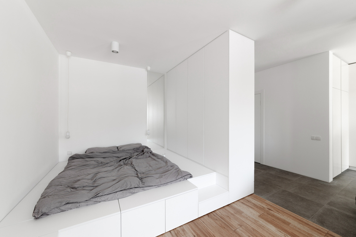 Hrystia Koliasa Architecture. Белая квартира